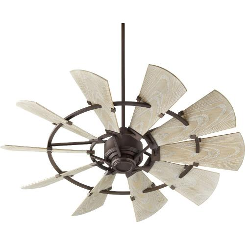 Quorum Lighting 195210 Windmill - Patio Fan in style - 52 inches wide by 16.46 inches high