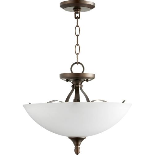 Quorum Lighting 2827-15 Jardin - 3 Light Dual Mount Convertible Pendant in Quorum Home Collection style - 15 inches wide by 12 inches high