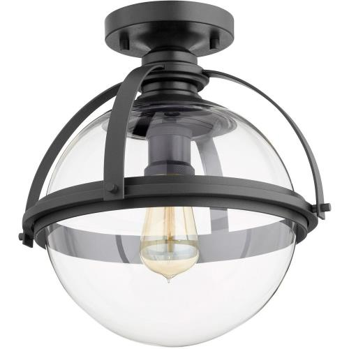 Quorum Lighting 38-13 Meridian - 1 Light Flush Mount in Transitional style - 12.5 inches wide by 13.13 inches high