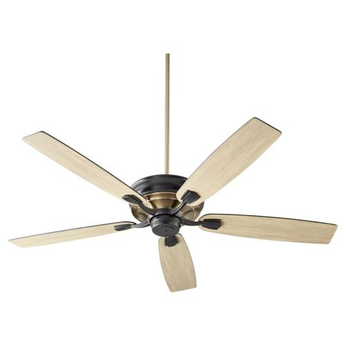 Quorum Lighting 50605 Gamble - 5 Blade Ceiling Fan in Traditional style - 60 inches wide by 14.25 inches high