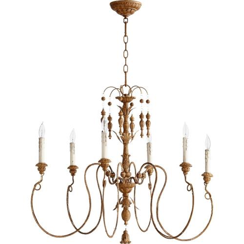 Quorum Lighting 6006-6 Salento - 6 Light Chandelier in Transitional style - 32 inches wide by 28 inches high