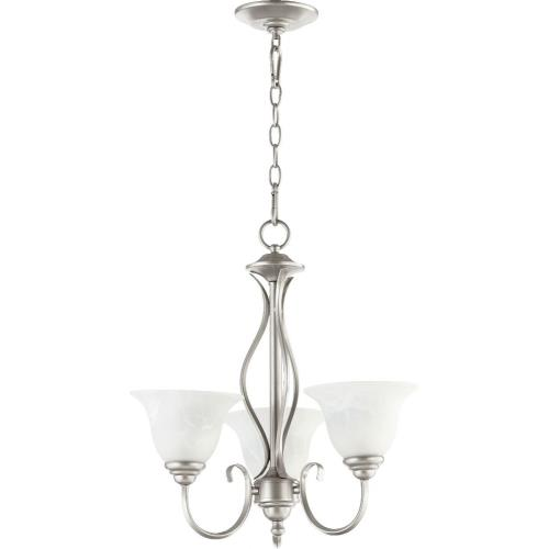 Quorum Lighting 6010-3 Spencer - 3 Light Chandelier in Quorum Home Collection style - 20 inches wide by 20 inches high