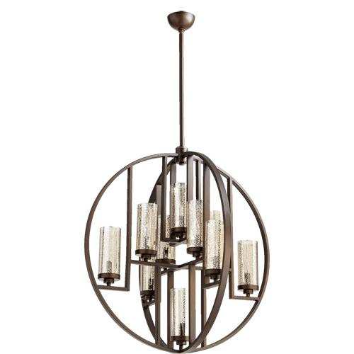 Quorum Lighting 603-10-86 Julian - Ten Light Chandelier in Transitional style - 32 inches wide by 33.5 inches high