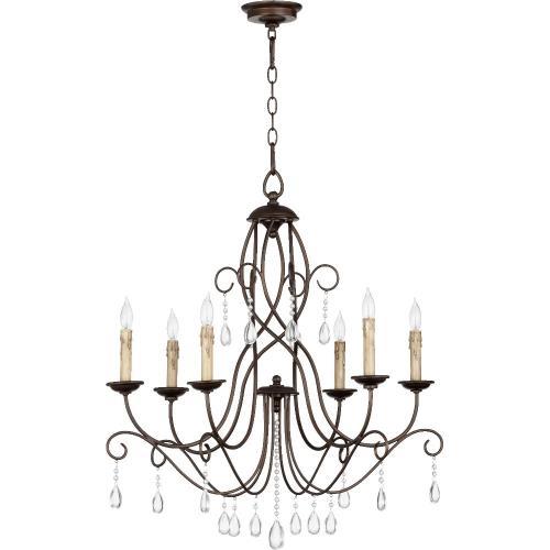 Quorum Lighting 6116-6-86 Cilia - Six Light Chandelier
