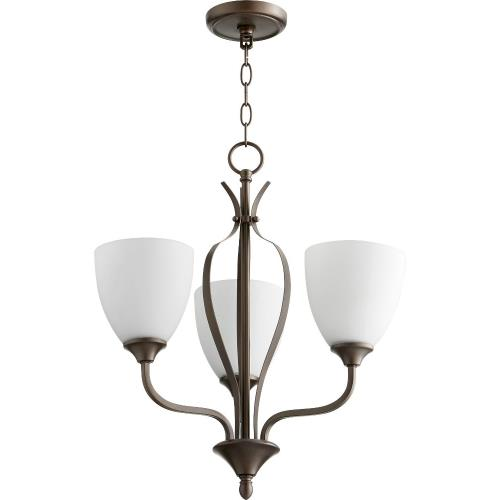Quorum Lighting 6127-3 Jardin - 3 Light Chandelier in Quorum Home Collection style - 20 inches wide by 21 inches high