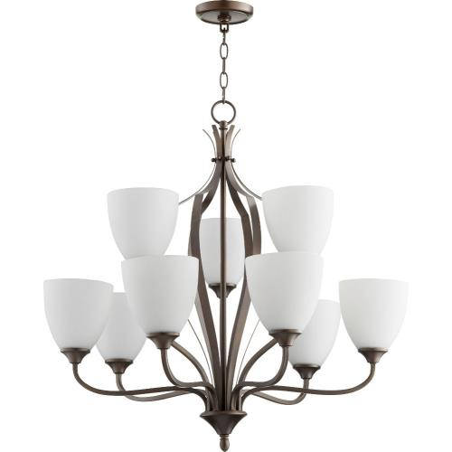 Quorum Lighting 6127-9 Jardin - 9 Light 2-Tier Chandelier in Quorum Home Collection style - 30 inches wide by 28 inches high