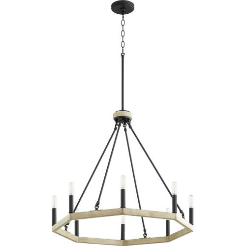 Quorum Lighting 6189-8-69 Alpine - 8 Light Chandelier in Soft Contemporary style - 25.25 inches wide by 24 inches high