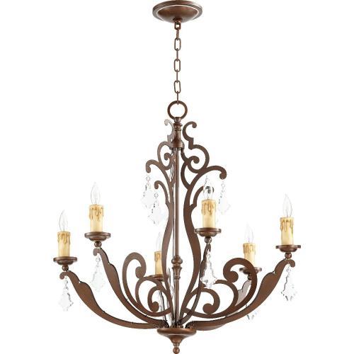 Quorum Lighting 619-6-39 Montgomery - 28 Inch Six Light Chandelier