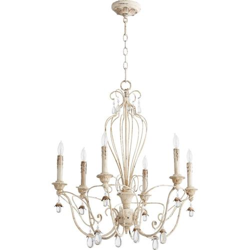 "Quorum Lighting 6244-6 Venice - 26"" Six Light Chandelier"