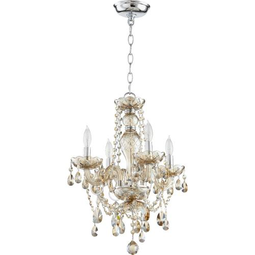 Quorum Lighting 630-4-614 Bohemian Katerina - Four Light Chandelier