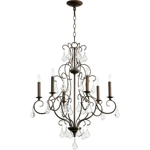 Quorum Lighting 6305-6 Ariel - Six Light Chandelier