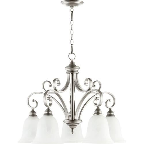 Quorum Lighting 6354-5 Bryant - 5 Light Nook Pendant in Quorum Home Collection style - 30 inches wide by 23.75 inches high