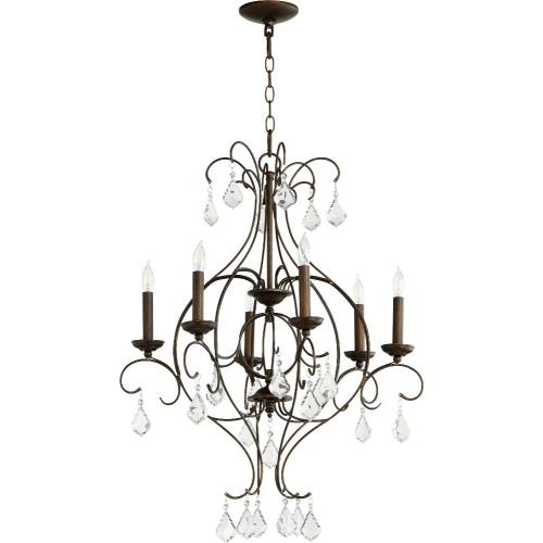 Quorum Lighting 6405-6 Ariel - Six Light Chandelier