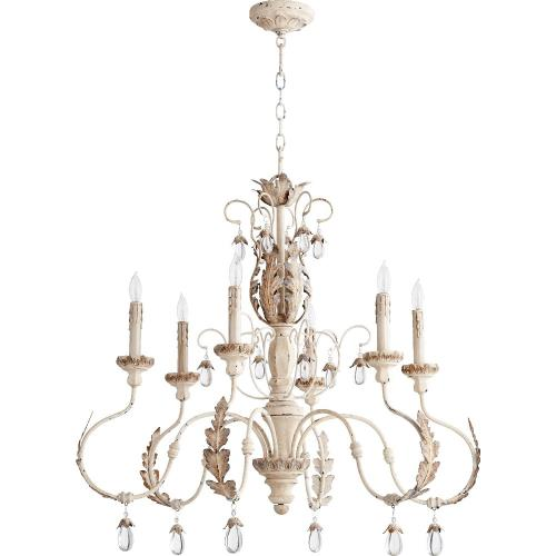 "Quorum Lighting 6444-6 Venice - 32"" Six Light Chandelier"