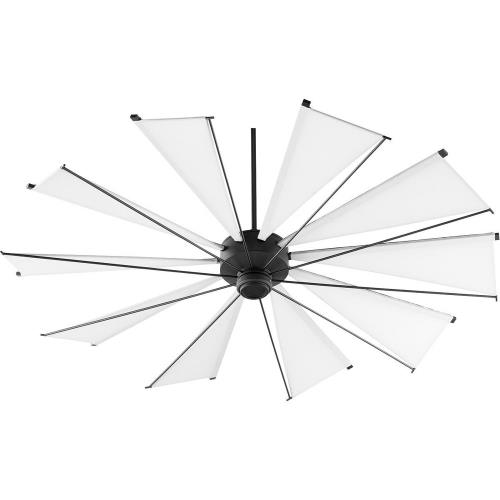 Quorum Lighting 67210 Mykonos - Ceiling Fan in Soft Contemporary style - 72 inches wide by 21.16 inches high