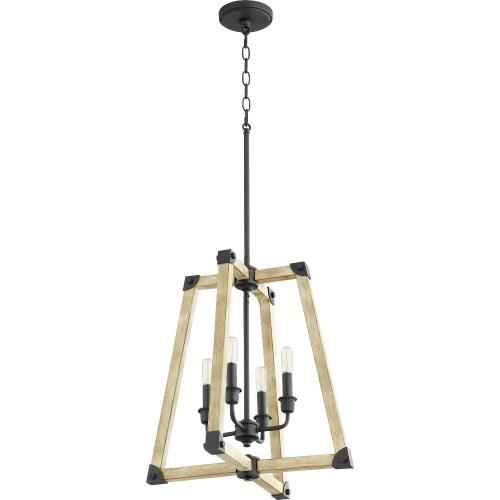 Quorum Lighting 6789-4-69 Alpine - 4 Light Entry Pendant in Soft Contemporary style - 18 inches wide by 15.5 inches high