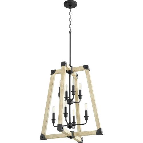 Quorum Lighting 6789-8-69 Alpine - 8 Light Entry Pendant in Soft Contemporary style - 22 inches wide by 28.5 inches high