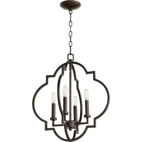 Quorum Lighting 6842-4 Dublin - 4 Light Pendant in Quorum Home Collection style - 18 inches wide by 21 inches high