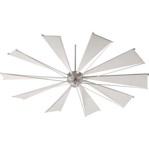 Quorum Lighting 69210 Mykonos - Ceiling Fan in Soft Contemporary style - 92 inches wide by 21.16 inches high