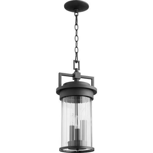 Quorum Lighting 7216-3-69 Dimas - 3 Light Outdoor Hanging Lantern in Soft Contemporary style - 8 inches wide by 18.25 inches high