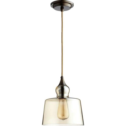Quorum Lighting 8001 1 Light Pendant in Transitional style - 8.5 inches wide by 10 inches high