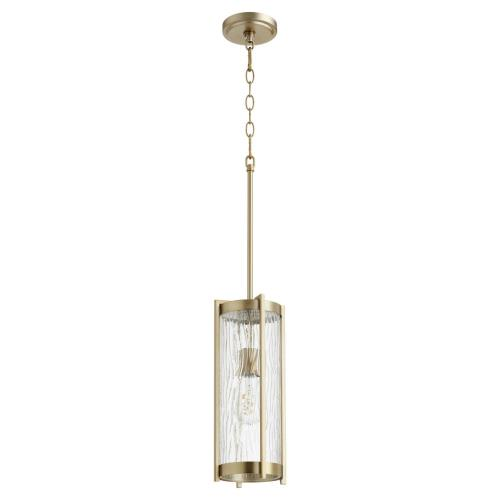 Quorum Lighting 809 Chisseled - 1 Light Pendant in Transitional style - 6.5 inches wide by 15.5 inches high