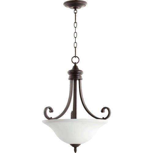 "Quorum Lighting 8154-3-186 Bryant - 24"" Three Light Pendant"