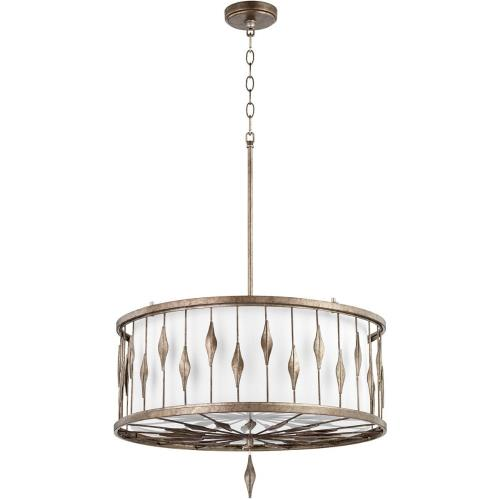 Quorum Lighting 855-6-91 Cordon - 6 Light Drum Pendant in style - 24.25 inches wide by 15.25 inches high