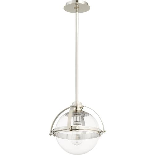 Quorum Lighting 88-13 Meridian - 1 Light Globe Pendant in Transitional style - 12.5 inches wide by 12 inches high