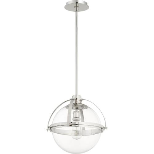 Quorum Lighting 88-15 Meridian - 1 Light Globe Pendant in Transitional style - 14.75 inches wide by 15.5 inches high