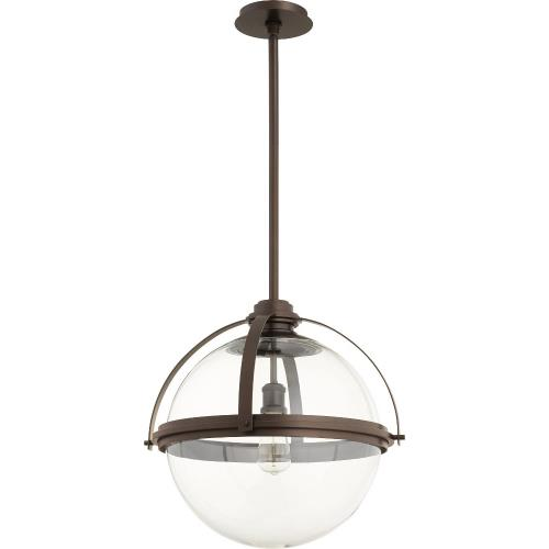 Quorum Lighting 88-20 Meridian - 1 Light Pendant in Transitional style - 19.5 inches wide by 20 inches high