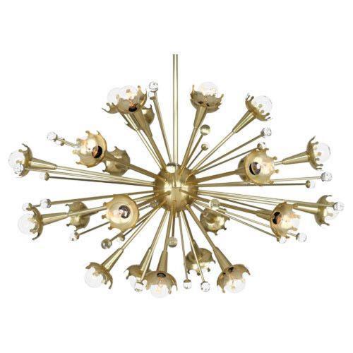 Robert Abbey Lighting 710 Jonathan Adler Sputnik - Twenty-Four Light Chandelier