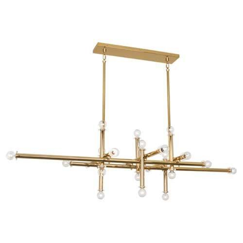 Robert Abbey Lighting 9050 Jonathan Adler Milano-22 Light Chandelier-64.25 Inches Wide by 18 Inches High