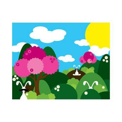 "Robert Abbey Lighting ART29 20"" Bunny Fields Pink Wall Art"