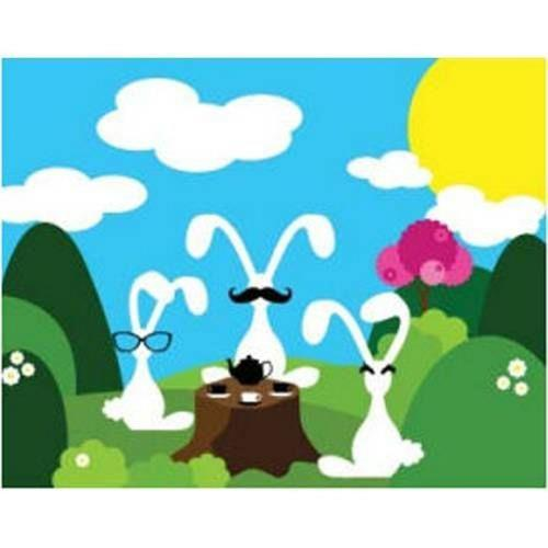 Robert Abbey Lighting ART35 Artwork - 20 Inch Tea Party Wall Art