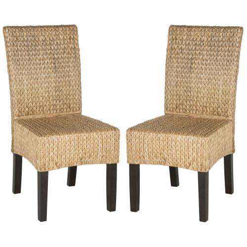 Safavieh SEA8016A-SET2 Luz - 39 Inch Wicker Dining Chair (Set of 2)