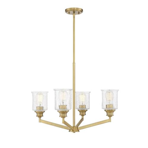 Savoy House 1-1970-4 4 Light Chandelier - Transitionalstyle with Vintage and Traditional inspirations - 20 inches tall by 25 inches wide