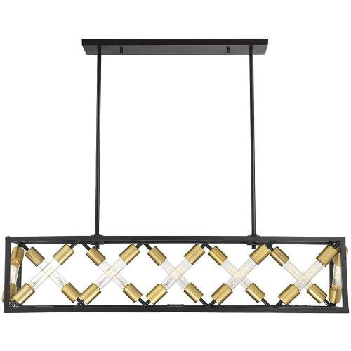 Savoy House 1-2781-12 48W 12 LED Linear Chandelier-Industrial Style with Contemporary and Transitional Inspirations-9.5 inches tall by 10 inches wide