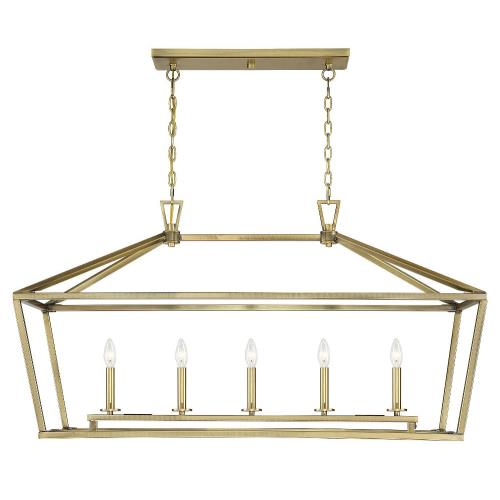 Savoy House 1-324-5 5 Light Linear Chandelier - Traditional style with Transitional and Bohemian inspirations - 23.5 inches tall by 16 inches wide