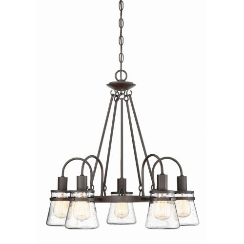 Savoy House 1-3501-5-13 5 Light Outdoor Chandelier-Rustic Style with Modern Farmhouse and Transitional Inspirations-24 inches tall by 23.75 inches wide