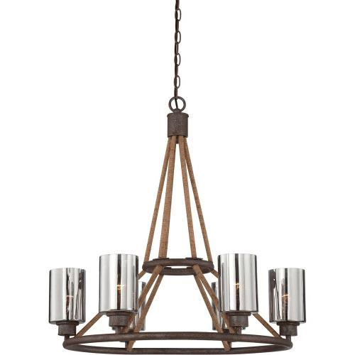 Savoy House 1-5150-6 6 Light Chandelier-Industrial Style with Rustic and Farmhouse Inspirations-28 inches tall by 28 inches wide