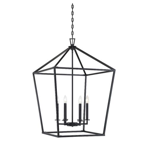 Savoy House 3-322-6 6 Light Foyer - Traditional style with Transitional and Bohemian inspirations - 36.5 inches tall by 24 inches wide