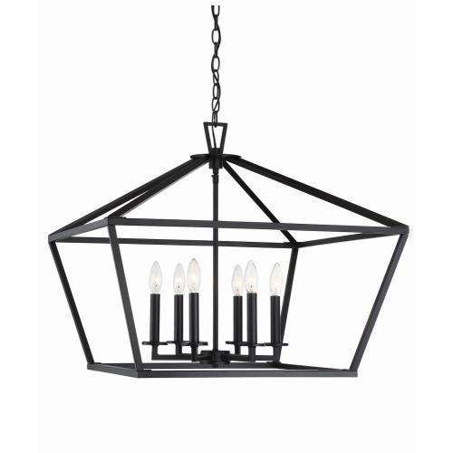 Savoy House 3-325-6 6 Light Foyer-Transitional Style with Contemporary and Farmhouse Inspirations-23 inches tall by 26 inches wide