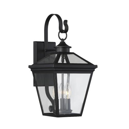 Savoy House 5-141 3 Light Outdoor Wall Lantern-Modern Farmhouse Style with Rustic and Transitional Inspirations-19 inches tall by 9 inches wide
