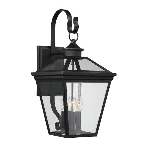 Savoy House 5-142 4 Light Outdoor Wall Lantern-Modern Farmhouse Style with Rustic and Transitional Inspirations-25.25 inches tall by 12 inches wide