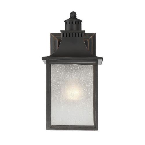 Savoy House 5-254 1 Light Outdoor Wall Lantern-Modern Farmhouse Style with Rustic and Transitional Inspirations-11.5 inches tall by 5.5 inches wide