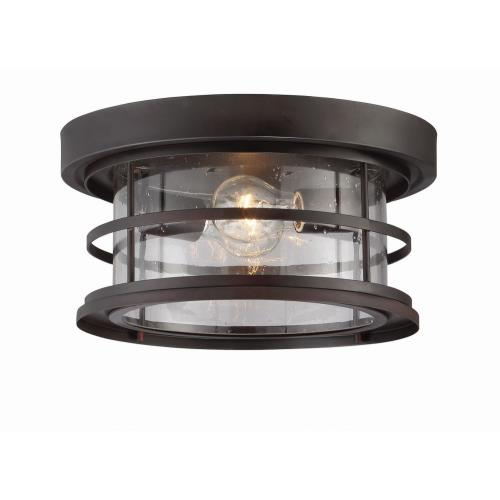 Savoy House 5-369-13 2 Light Outdoor Flush Mount-Transitional Style with Farmhouse Inspirations-6.75 inches tall by 13 inches wide
