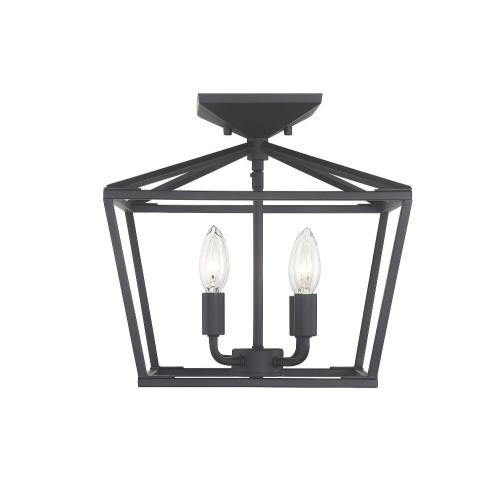 Savoy House 6-328-4 4 Light Semi-Flush Mount - Traditional style with Transitional and Bohemian inspirations - 13 inches tall by 13 inches wide