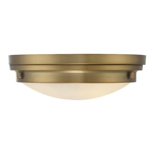 Savoy House 6-3350-16 3 Light Flush Mount - Transitionalstyle with Contemporary and Industrial inspirations - 4.75 inches tall by 15 inches wide