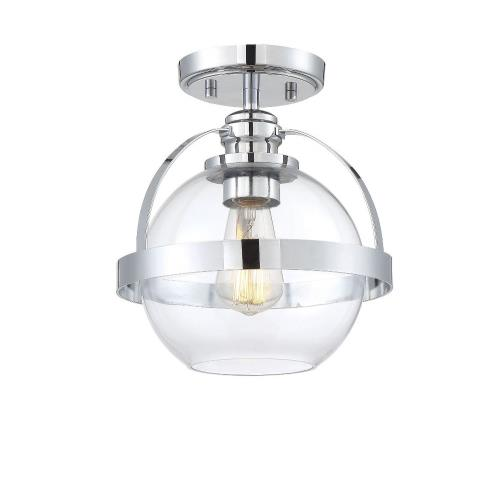 Savoy House 6-7200-1 1 Light Semi-Flush Mount-Mid-Century Modern Style with Contemporary and Transitional Inspirations-9.75 inches tall by 9.38 inches wide